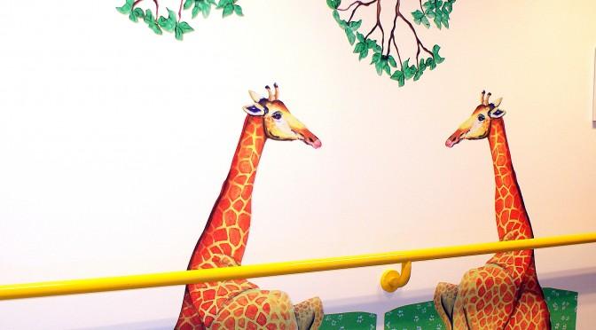 Girafpassiar på gangen
