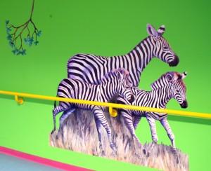 Zebraflok i løb