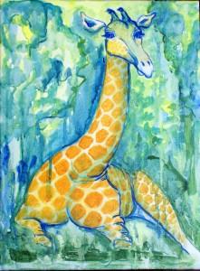 Giraf m.m.        30 x 40     SOLGT
