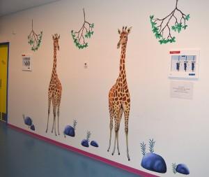 LisW.Herlev Børnemodtagelse. Høje giraffer