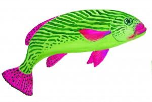 grønstribet fisk